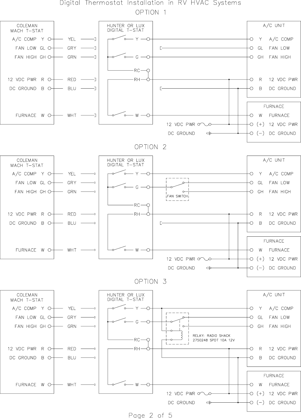 Furnace Fan Relay Wiring Diagram Dometic Duo Therm Thermostat Wiring