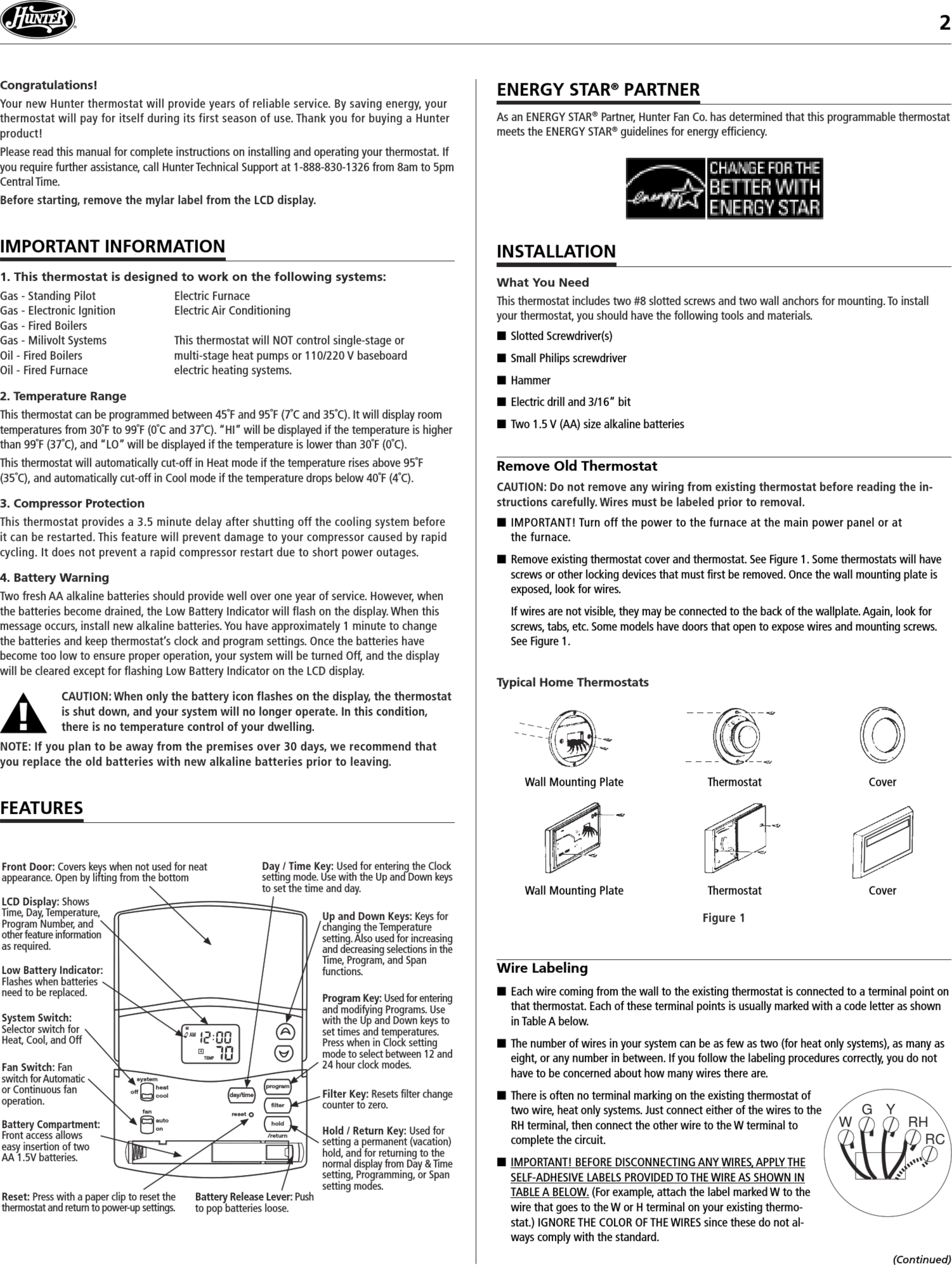 Großzügig Hunter Thermostat Schaltplan 44377 Fotos - Schaltplan ...