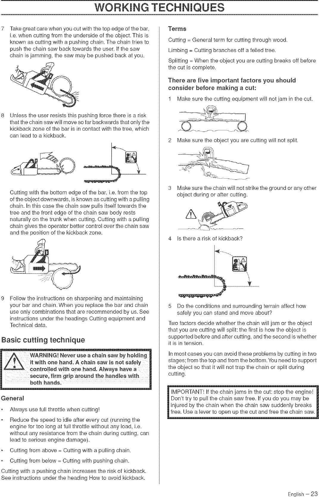 Husqvarna 455 RANCHER User Manual CHAIN SAW Manuals And