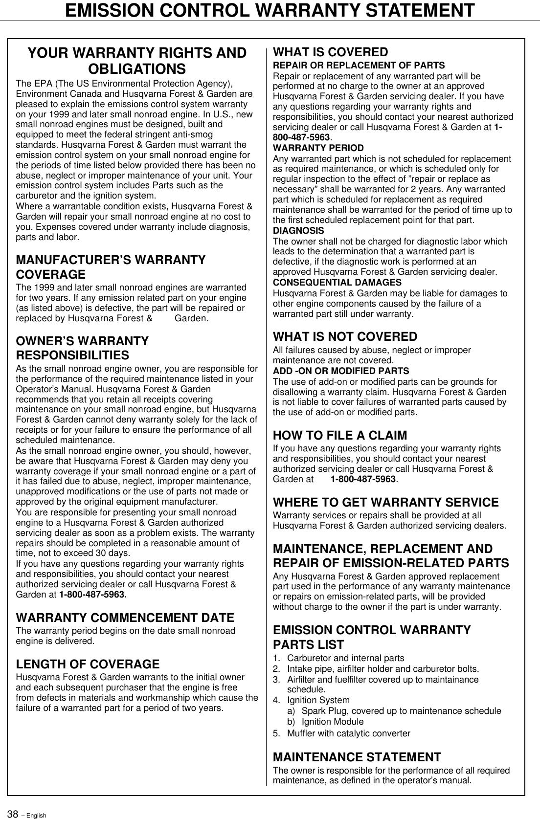 Husqvarna 245 Rx Users Manual OM, 240 R, RX, 250 252 265 EPA, 2001 09