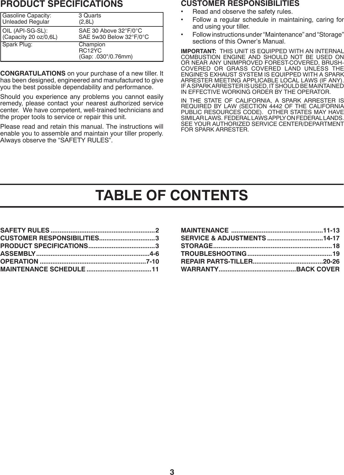 Husqvarna Crt900 Users Manual OM, CRT900, 2009 11