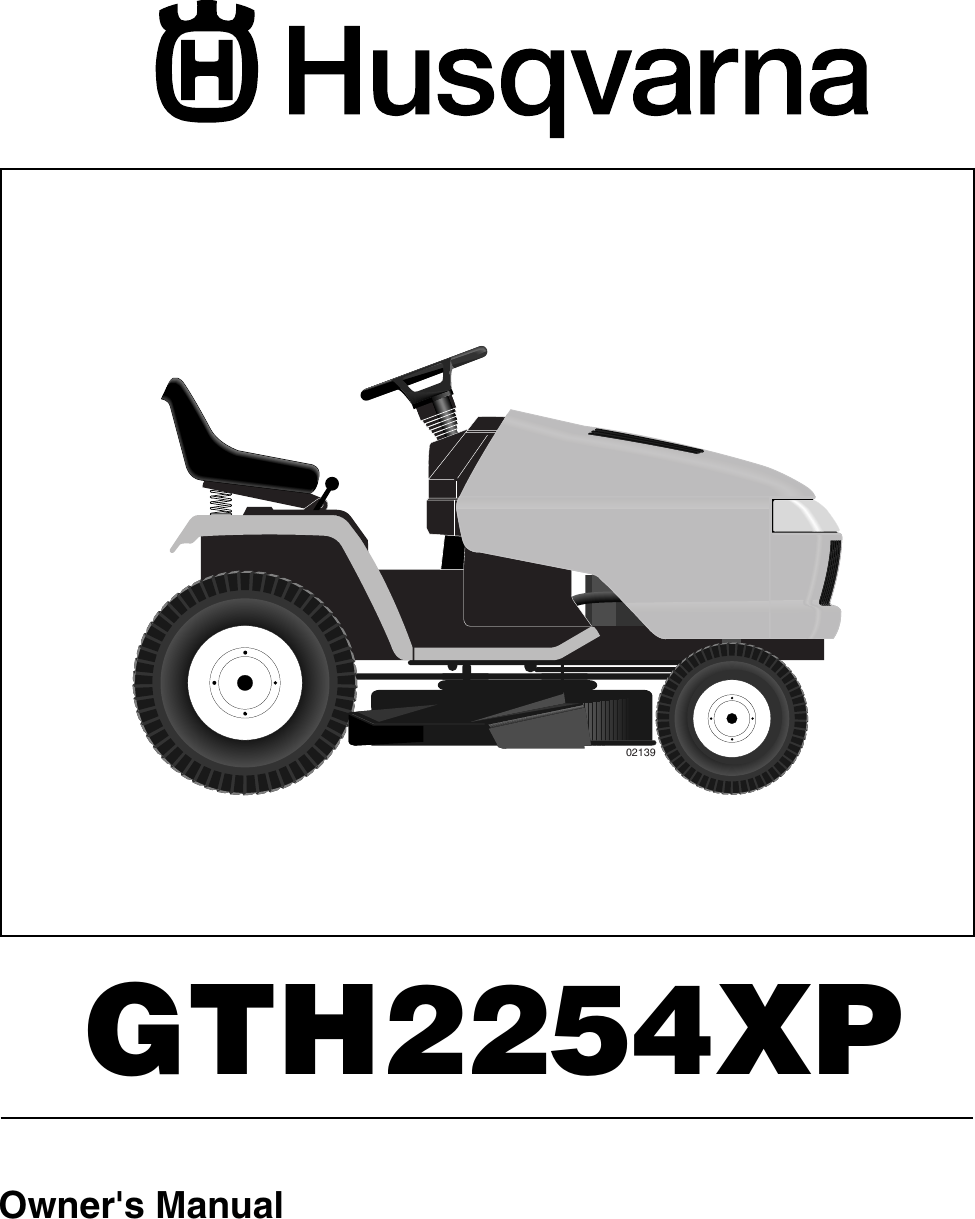 Husqvarna Gth2254Xp Users Manual OM, GTH 2254 XP A, 954571229, 2004