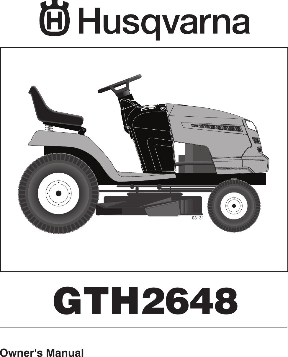 Husqvarna Gth2648 Users Manual Om Gth 2648 96043003000 2006 12 Husky Mower Wiring Harness Kit Ride