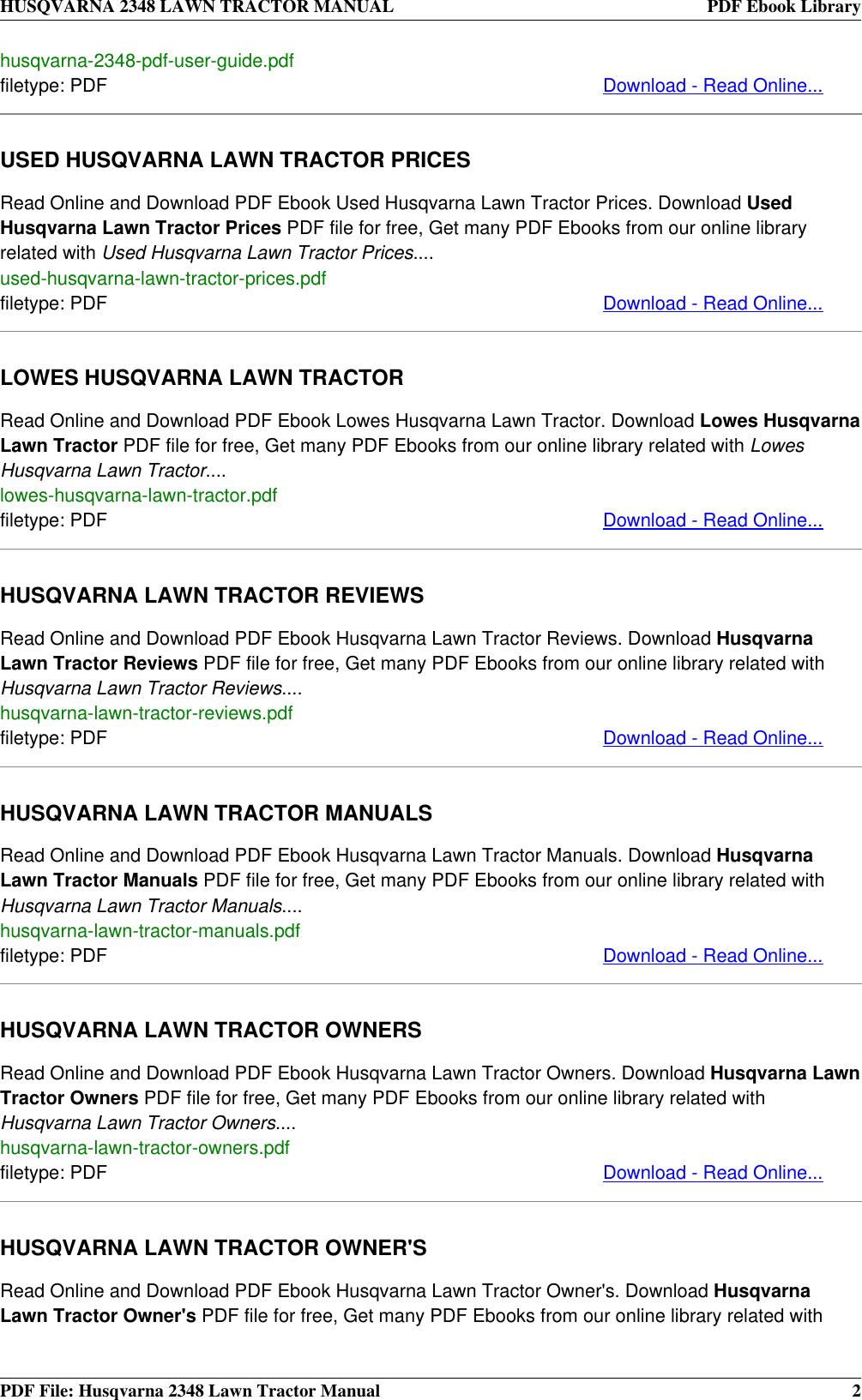 Husqvarna manuals ebook 22 philips gc4411 manual array husqvarna lawn mower 2348 users manual tractor rh usermanual wiki fandeluxe Images