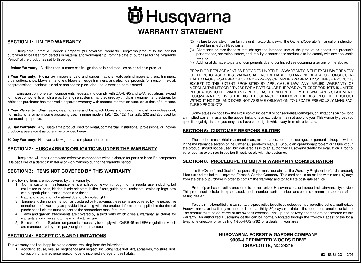 Husqvarna Lth130 Users Manual OM, LTH 130, 954140005E, 1997 10, Ride