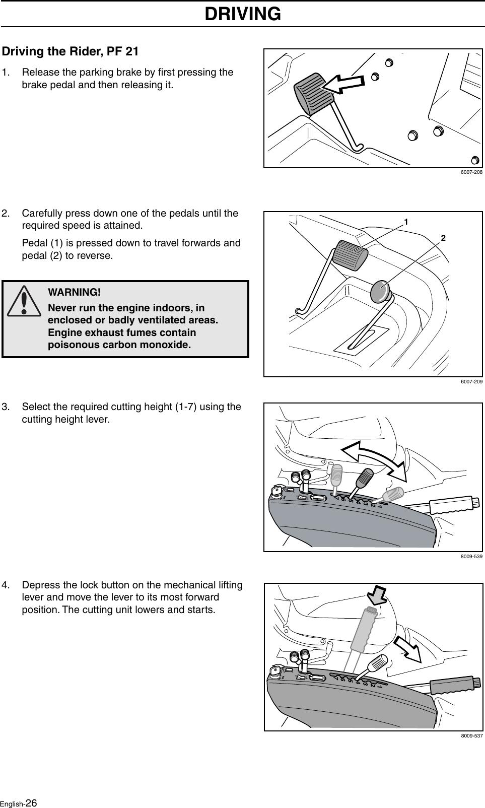 Husqvarna Proflex 21 Users Manual OM, Rider 18, 21, 2004 01