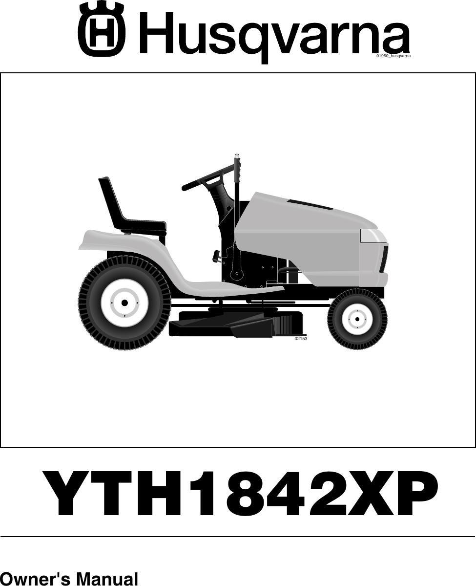 Husqvarna Yth1842Xp Users Manual OM, YTH1842 XP, 2005 05