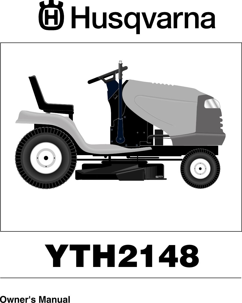 Husqvarna Yth2148 Users Manual Operator's Manual, Yth 2148 A Husqvarna Lawn  Mower Parts Diagram Husqvarna Yth 2148 Wiring Schematic