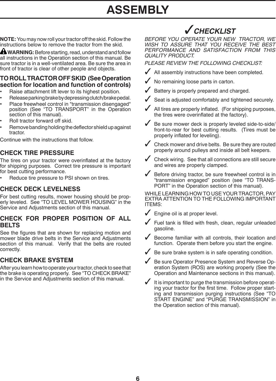 Husqvarna Yth22V46 96043016100 2012 09 Owner S Manual OM