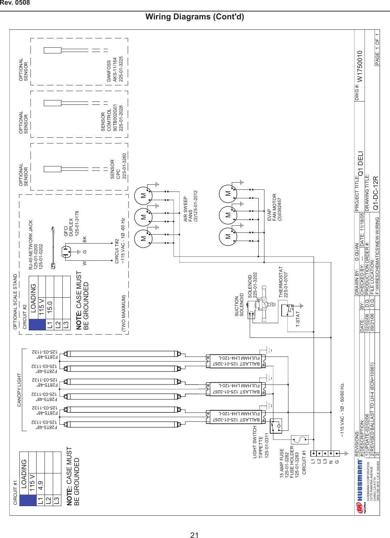 Hussman Wiring Diagram - Everything Wiring Diagram on