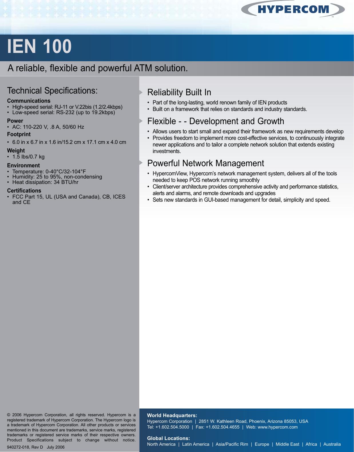 hypercom ien 100 users manual 100 qxp rh usermanual wiki User Manual Template User Manual Template