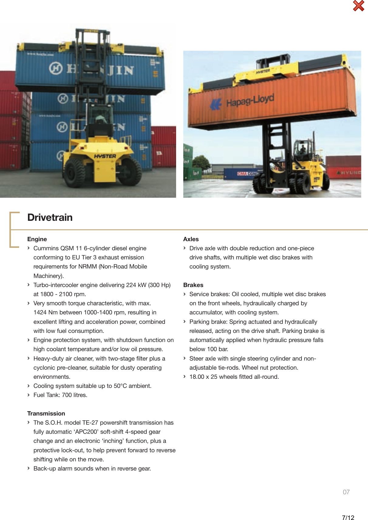Hyster H40 00 50 00Xm 16Ch Users Manual Photo Layouts