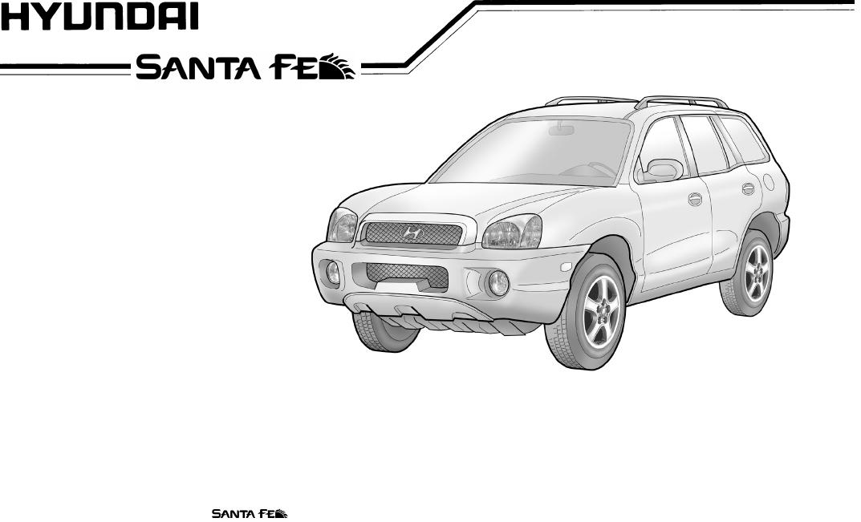 Hyundai 2003 Santa Fe Owners Manual Smhma 11