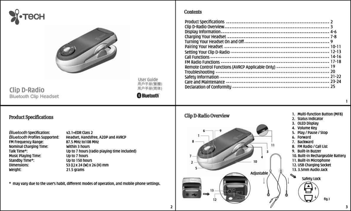 i tech dynamic clip d radio users manual 7 rh usermanual wiki Tech Comments Natec Tech Manual