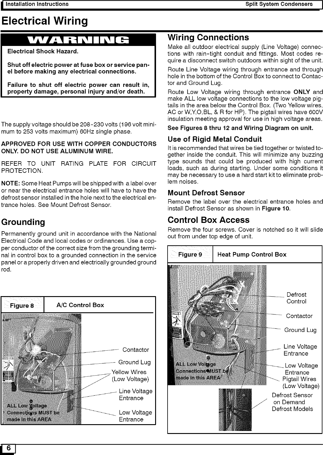 Icp Air Conditioner Heat Pumpoutside Unit Manual L0522786 Ac Control Wiring Page 6 Of 12