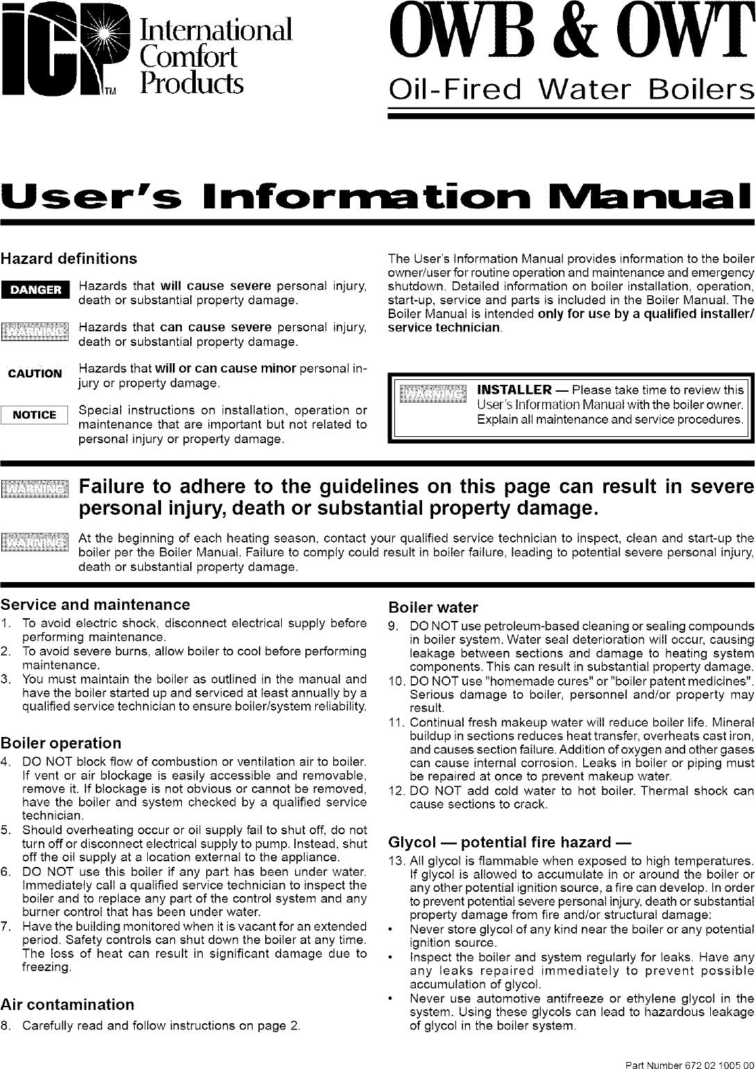 ICP Boiler Manual L0705284