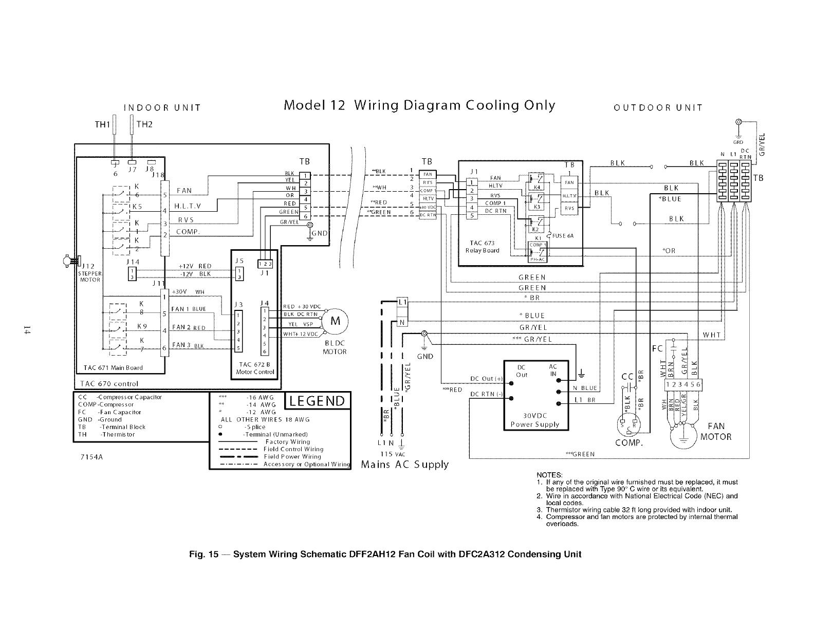 Icp Air Conditioner Heat Pumpoutside Unit Manual L0803417 Blue Wire Ac Wiring Diagram Indoor