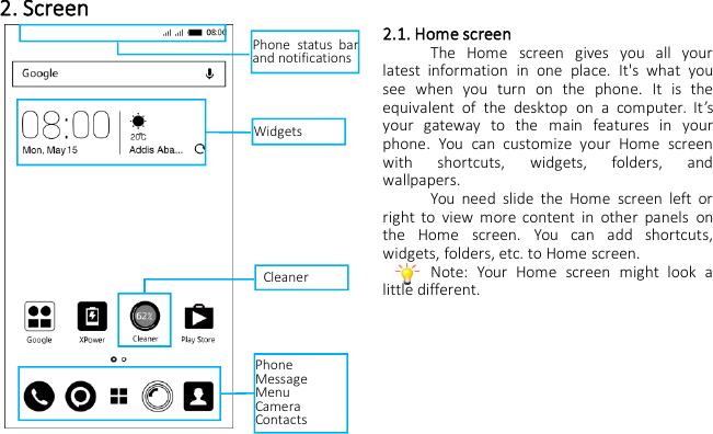 INFINIX MOBILITY X557 Mobile phone User Manual