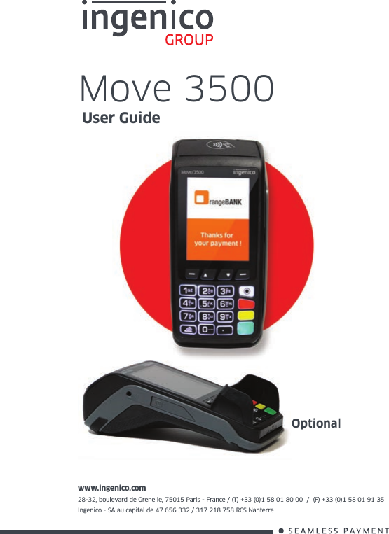 INGENICO M5000CL3GWIBT Mobile Payment terminal User Manual