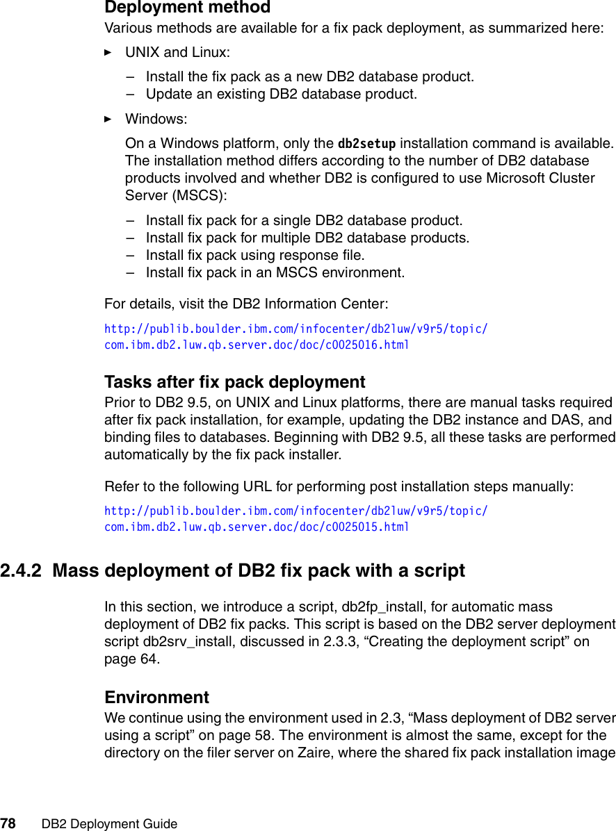 Ibm Db2 Users Manual Deployment Guide