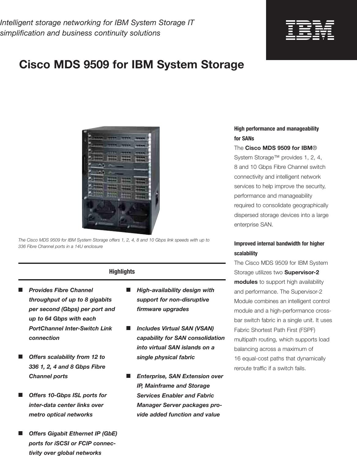 Ibm Mds 9509 Users Manual 1820_USEN qxp