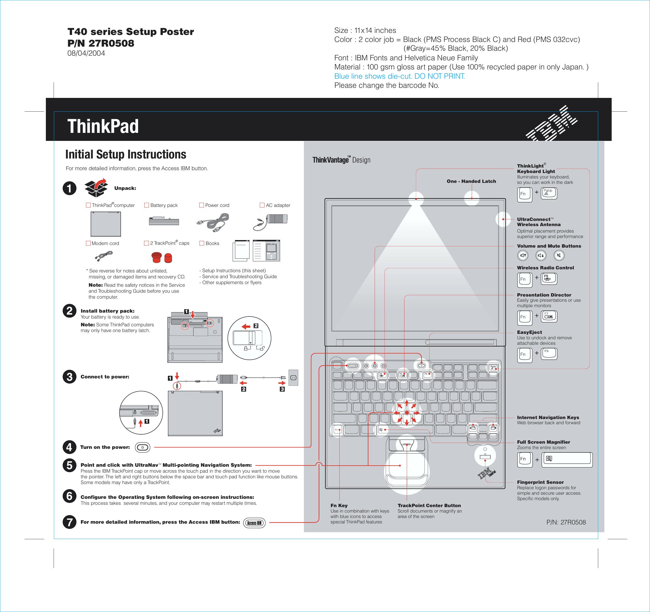 Ibm Thinkpad T40 Users Manual 27r0508 P1 01 Wiring Diagram