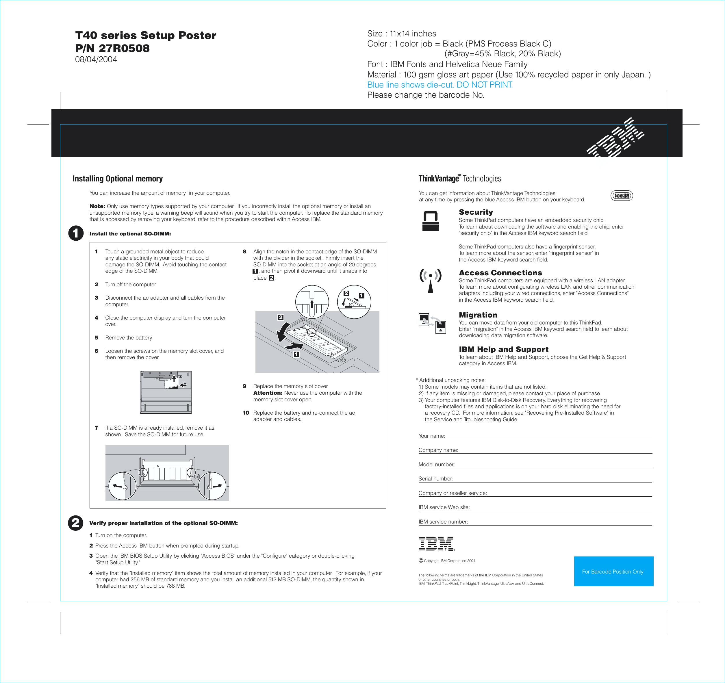 Ibm Thinkpad T40 Users Manual 27r0508 P1 01 Wiring Diagram Page 2 Of