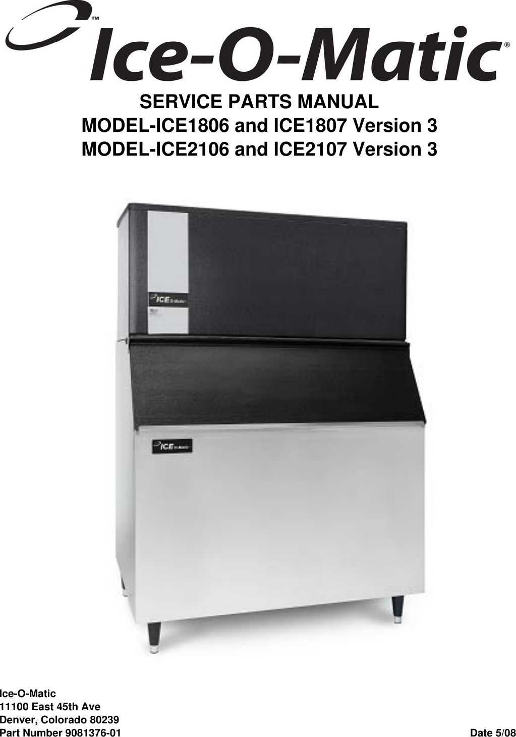 Ice O Matic Ice2107 Users Manual Wiring Diagram