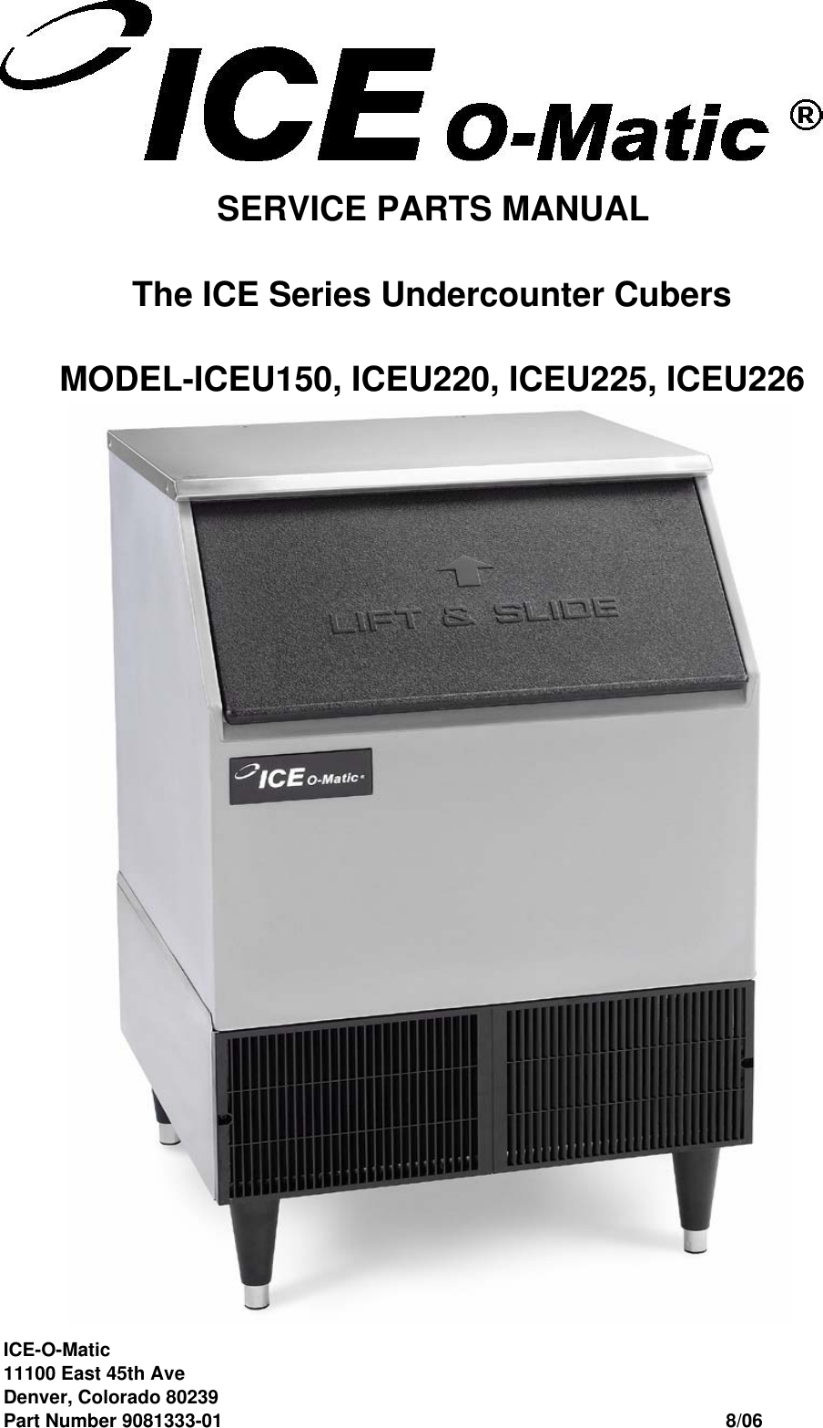 Ice O Matic 9051135-05 Spillaway Evaporator