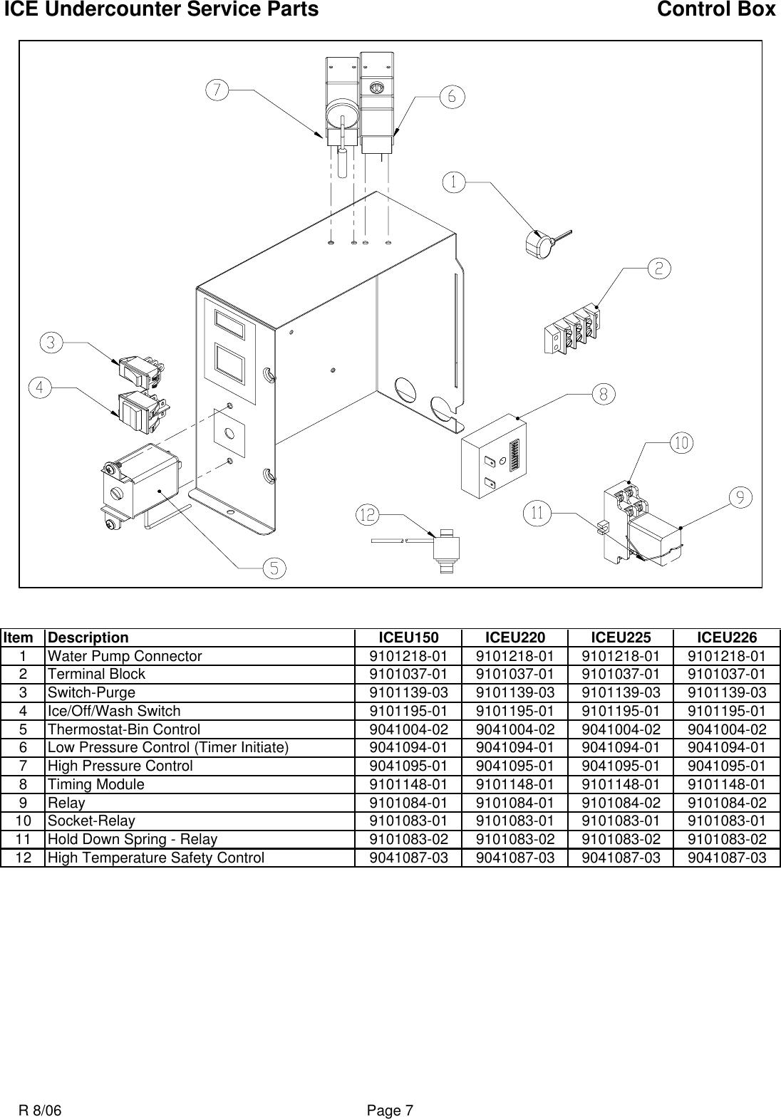 Ice O Matic Iceu150 Users Manual ICEU 150 220 225 226