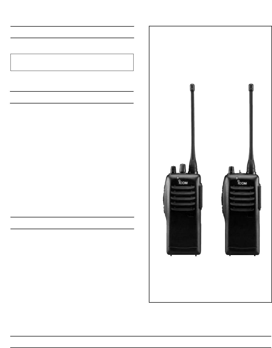 Icom Ic F21 Users Manual F21/F21S Service