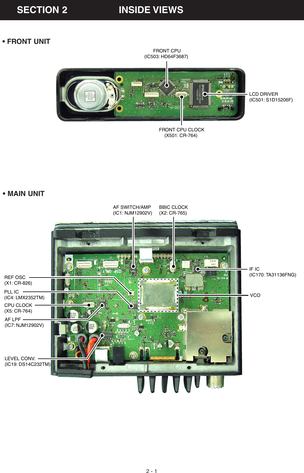 Icom Ic F5061 Users Manual F5060 Series SERVICE