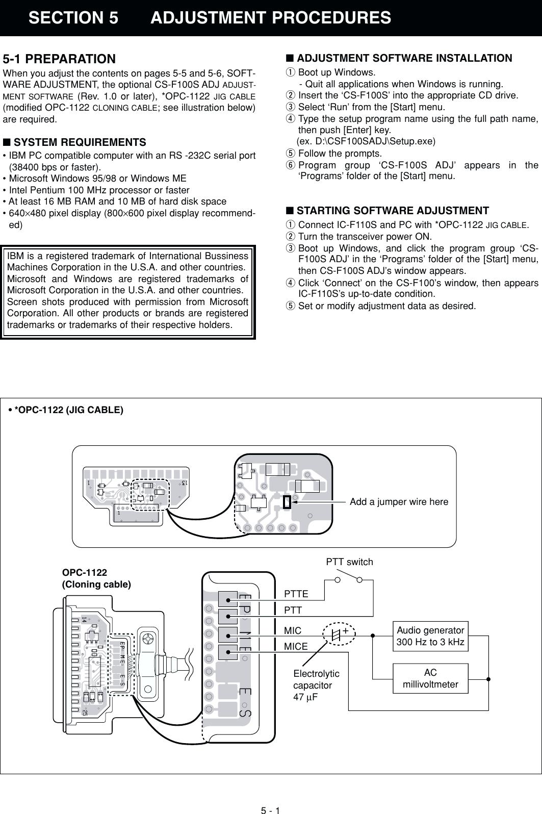 Icom If110S Users Manual IC F110S/F111S/F121S Service on