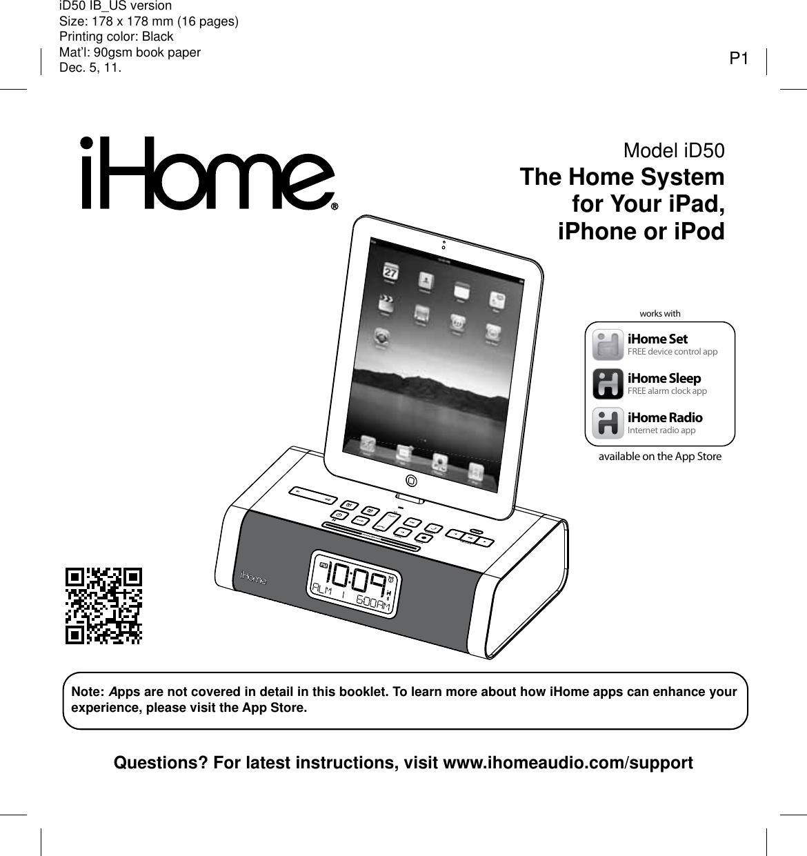 Ihome Id50 Users Manual