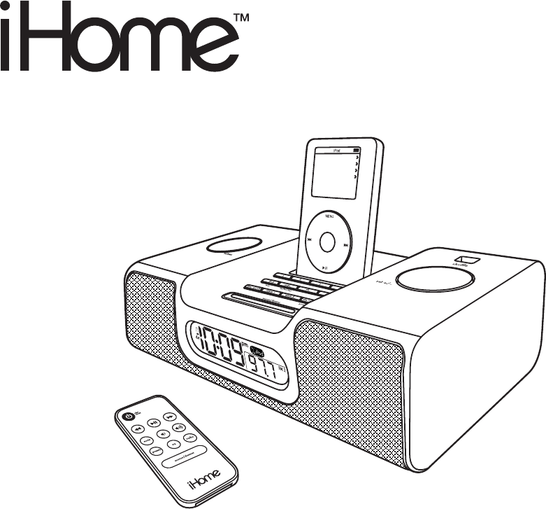 White Ihome Model Ih6 no Remote Or Power Cord Portable Audio & Headphones