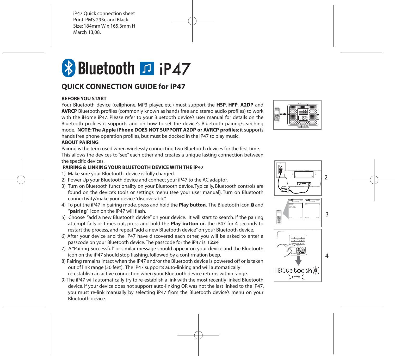 Ihome Ip47 Users Manual on