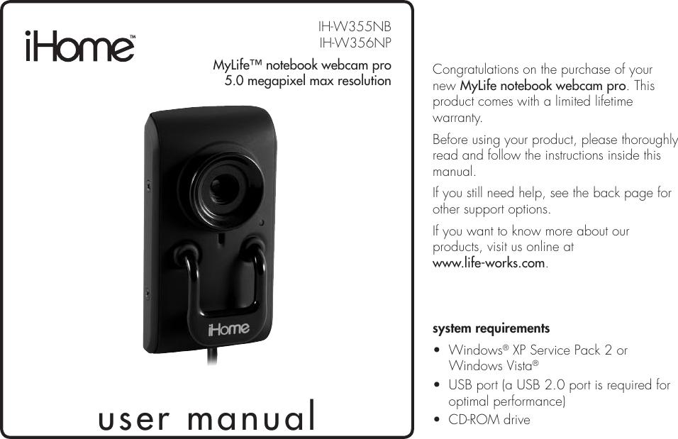 Ihome Mylife Ih W355nb Users Manual