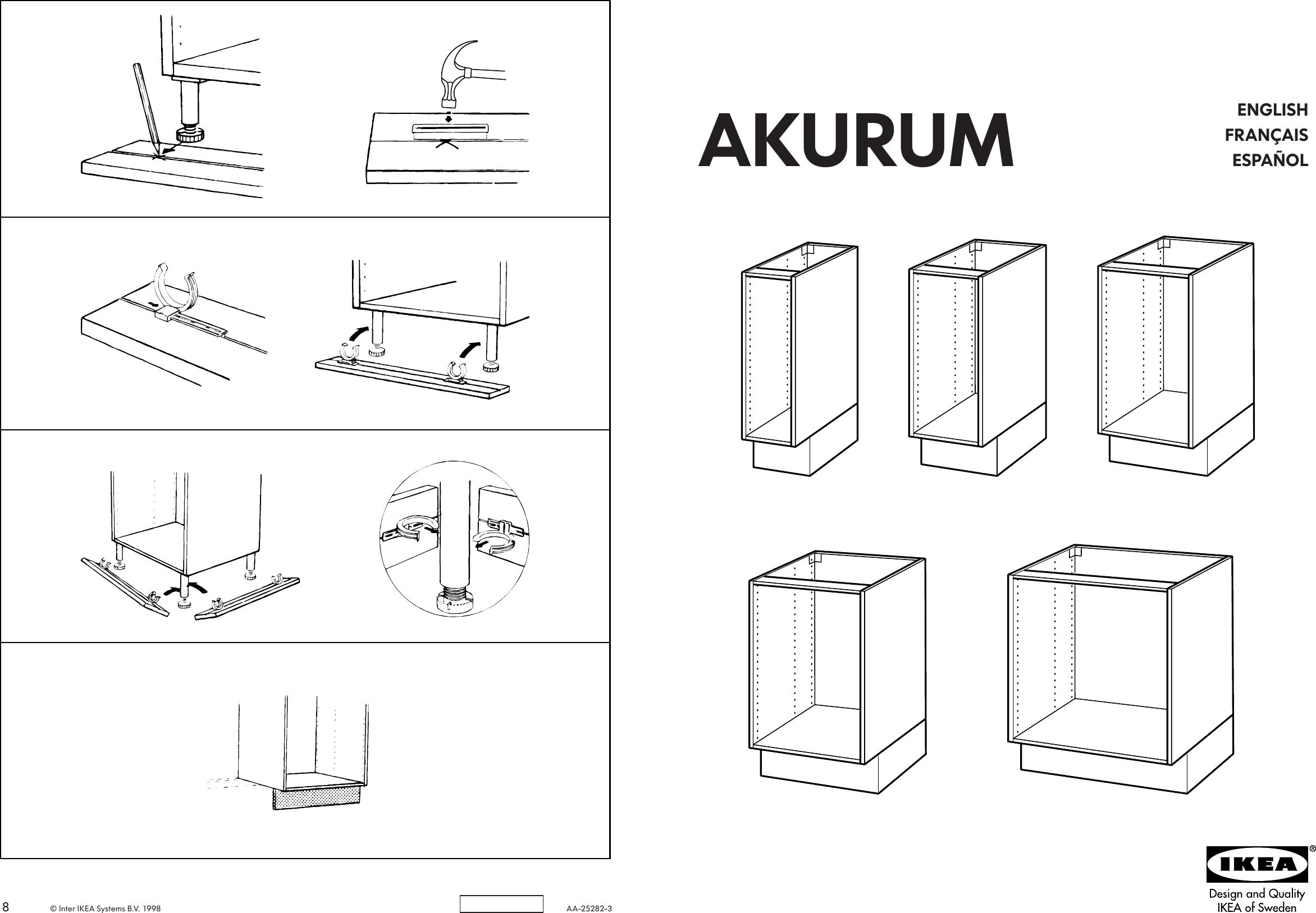 Ikea Akurum Base Cabinet Frame Assembly Instruction 7