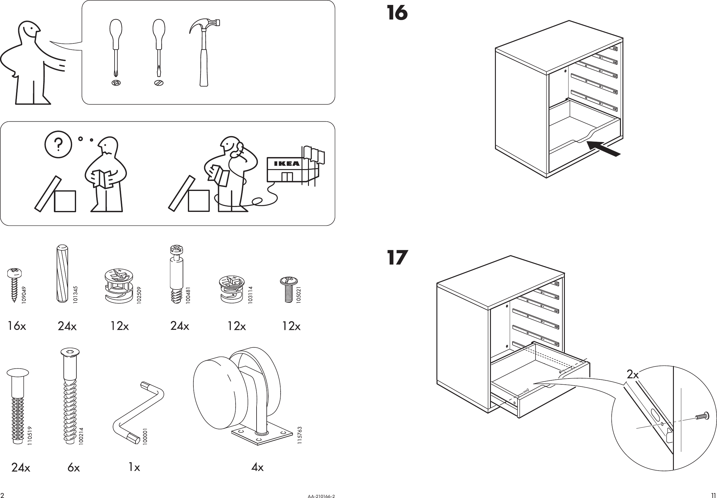 Ikea Alex Drawer Unit Casters Wht Assembly Instruction