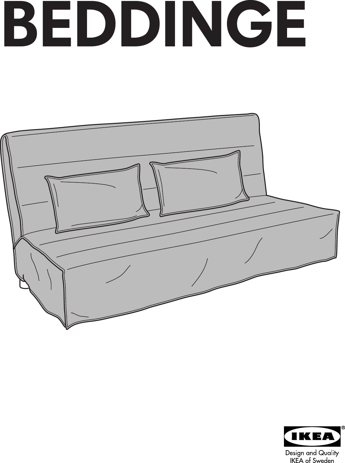 Ikea Beddinge Sofa Bed Cover Assembly Instruction