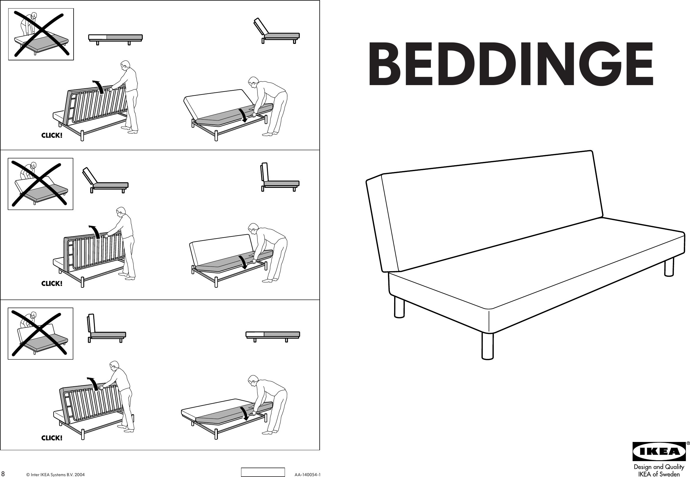 Page 1 of 4 - Ikea Ikea-Beddinge-Sofabed-Frame-Assembly-Instruction-2  Ikea-beddinge-sofabed-frame-assembly-instruction