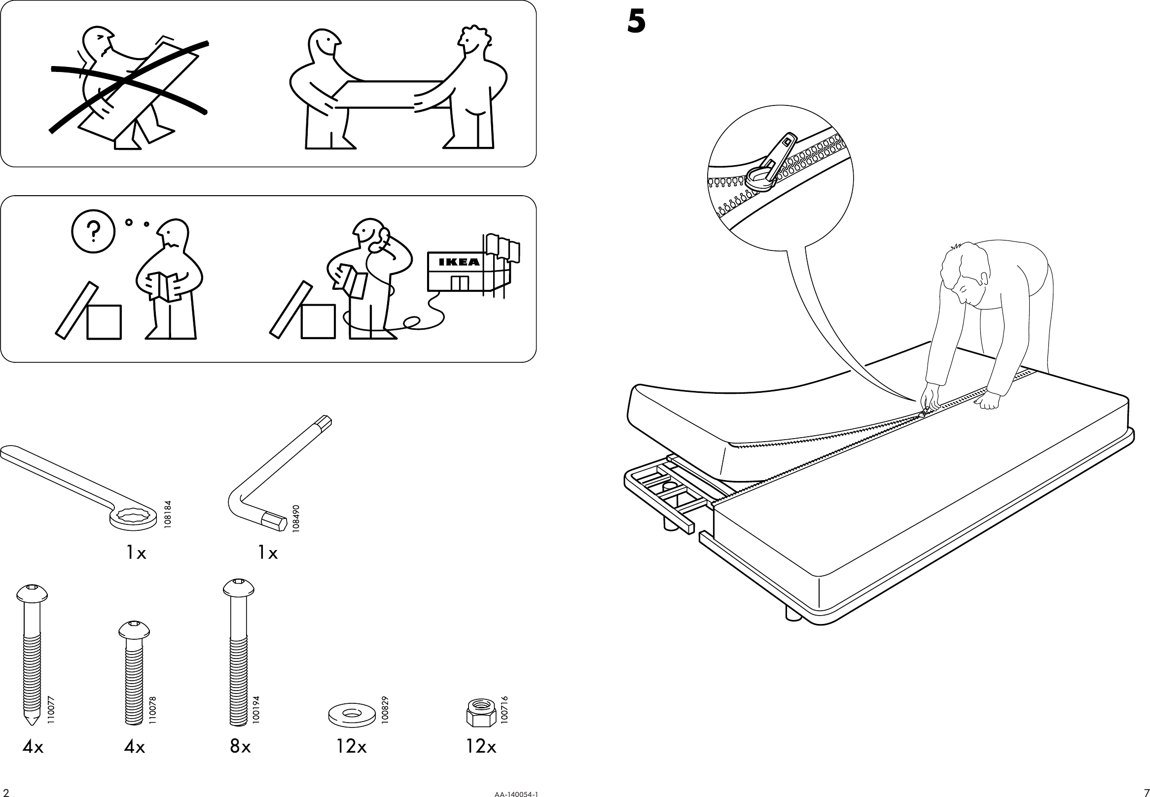 Page 2 of 4 - Ikea Ikea-Beddinge-Sofabed-Frame-Assembly-Instruction-2  Ikea-beddinge-sofabed-frame-assembly-instruction