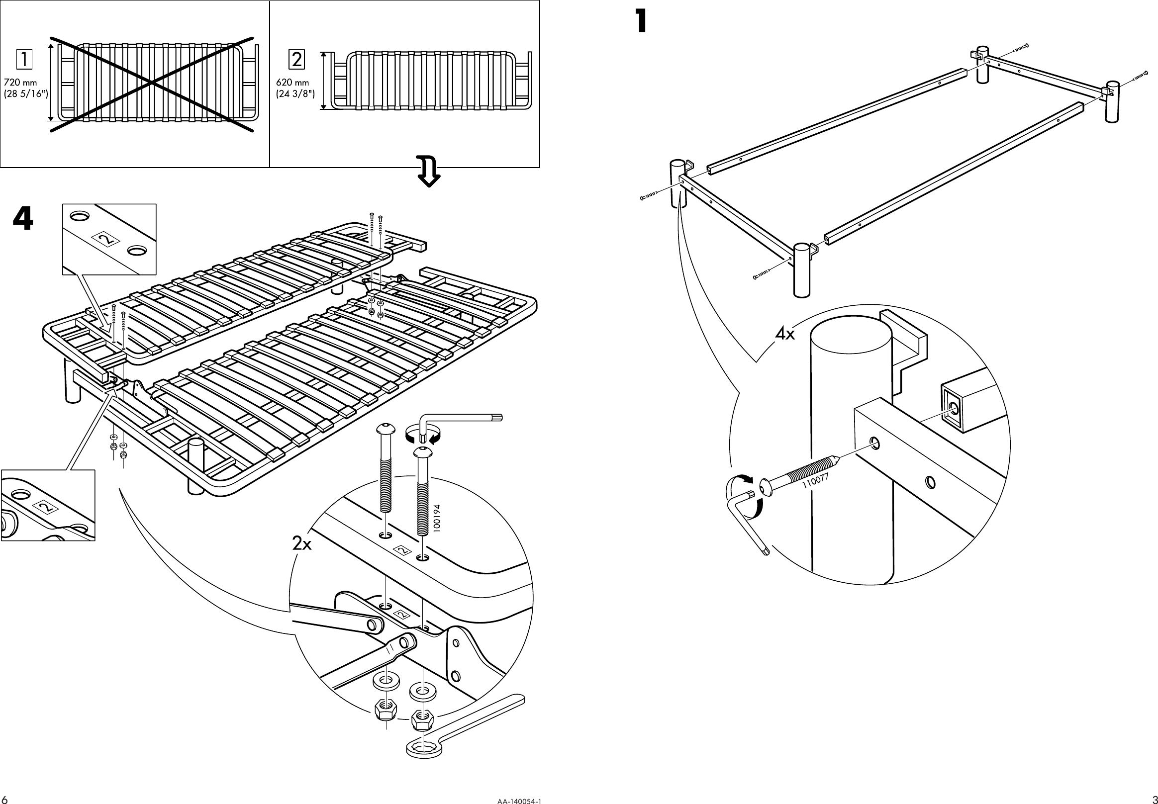 Ikea Beddinge Sofabed Frame Assembly Instruction 2