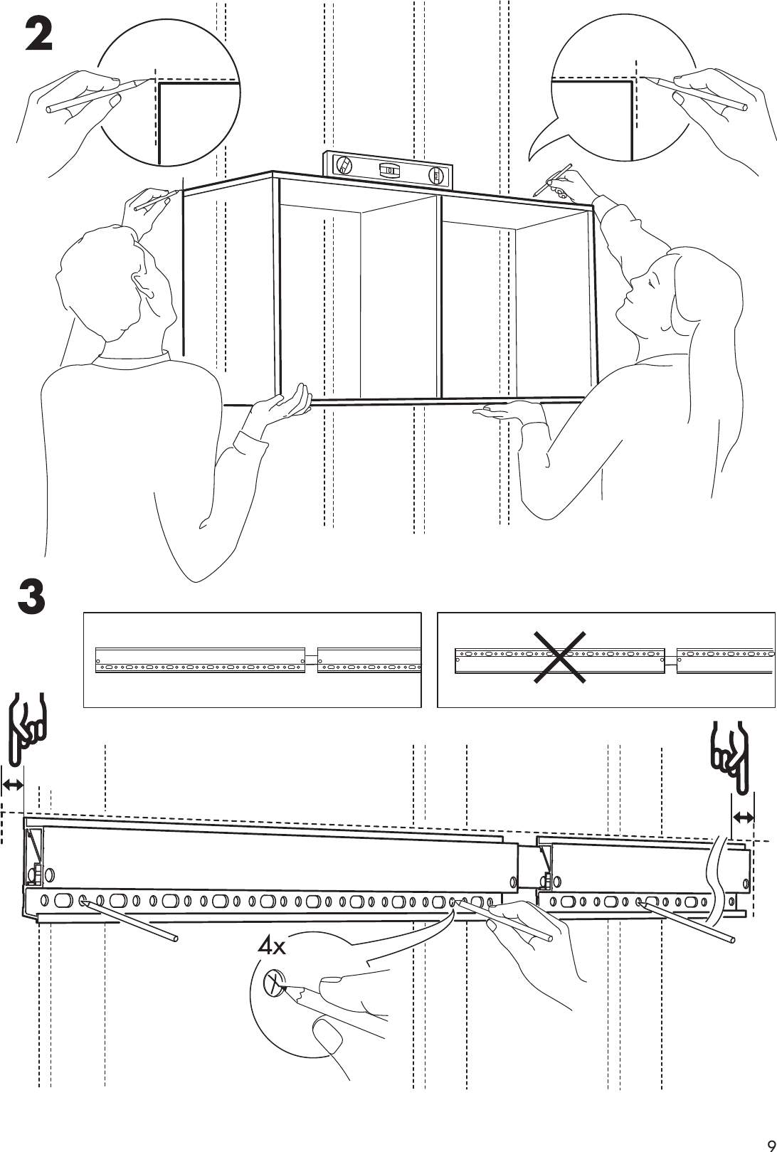 Ikea Besta Suspension Rail 23 5 8 Assembly Instruction
