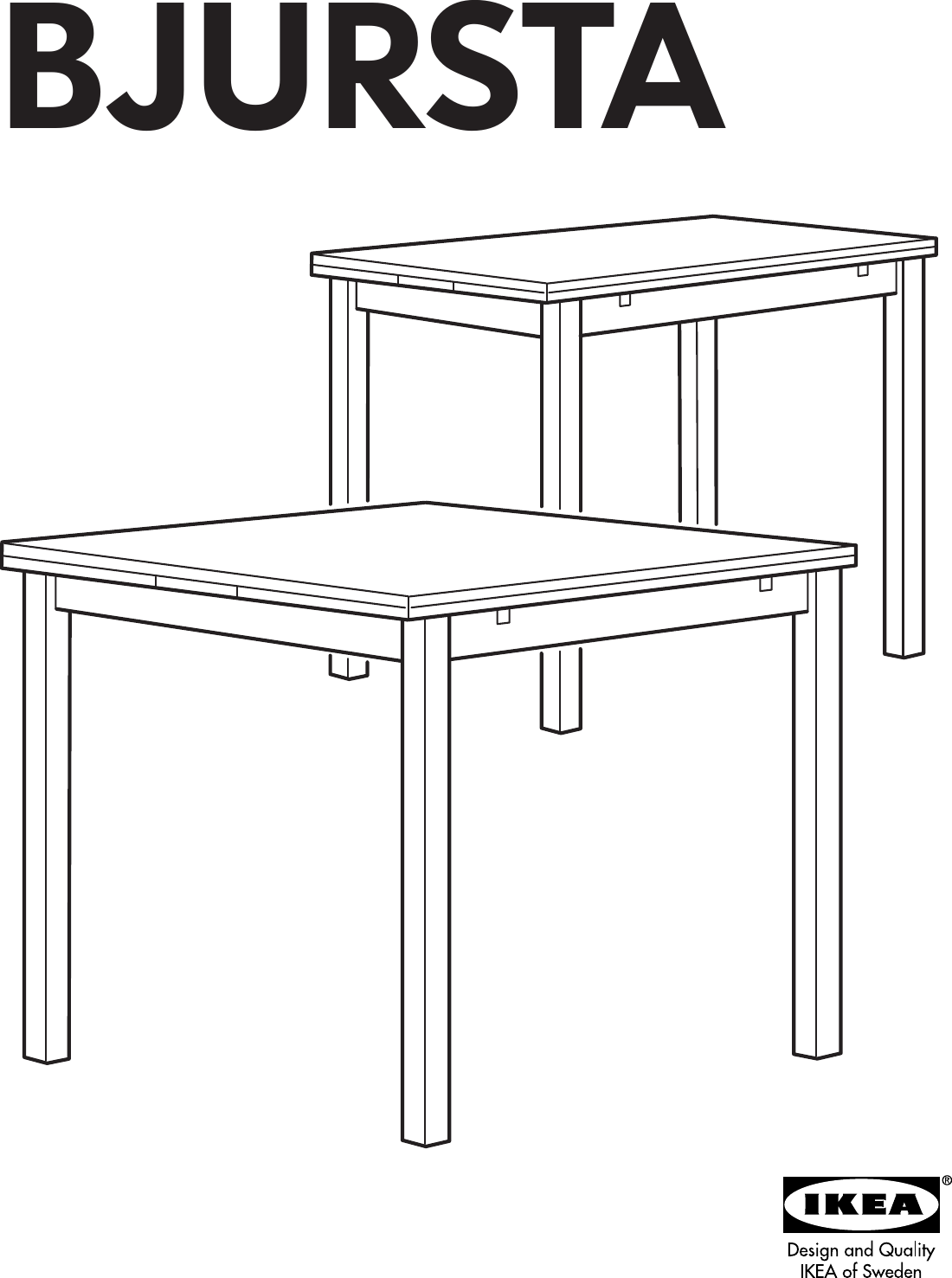 Ikea Bjursta Extendable Dining Table 20 28 35 X35 Assembly Instruction
