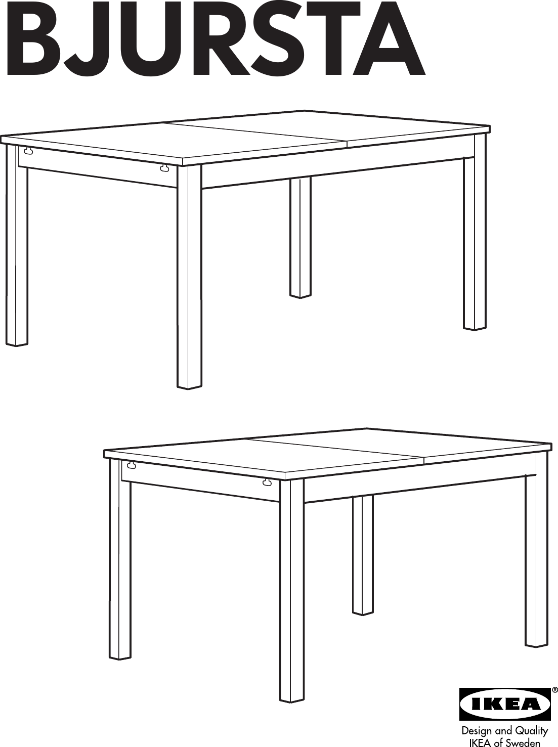 Ikea Bjursta Extendable Dining Table 69 86 102 X37 Assembly