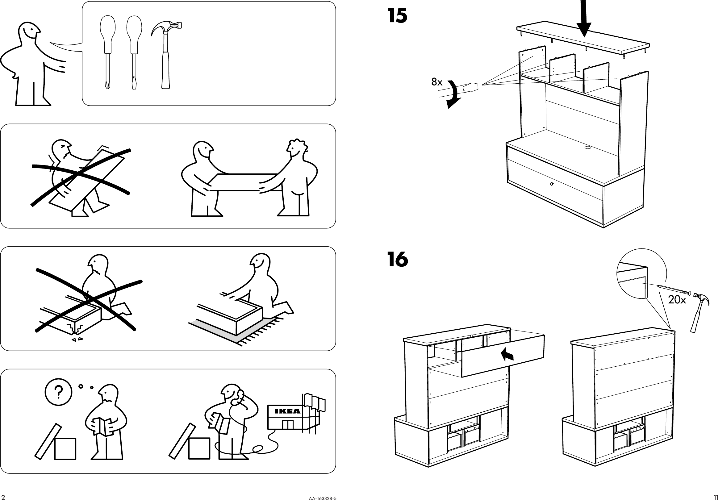 Page 2 of 6 - Ikea Ikea-Bonde-Add-On-For-Tv-Unit-57X40-Assembly-Instruction-3  Ikea-bonde-add-on-for-tv-unit-57x40-assembly-instruction