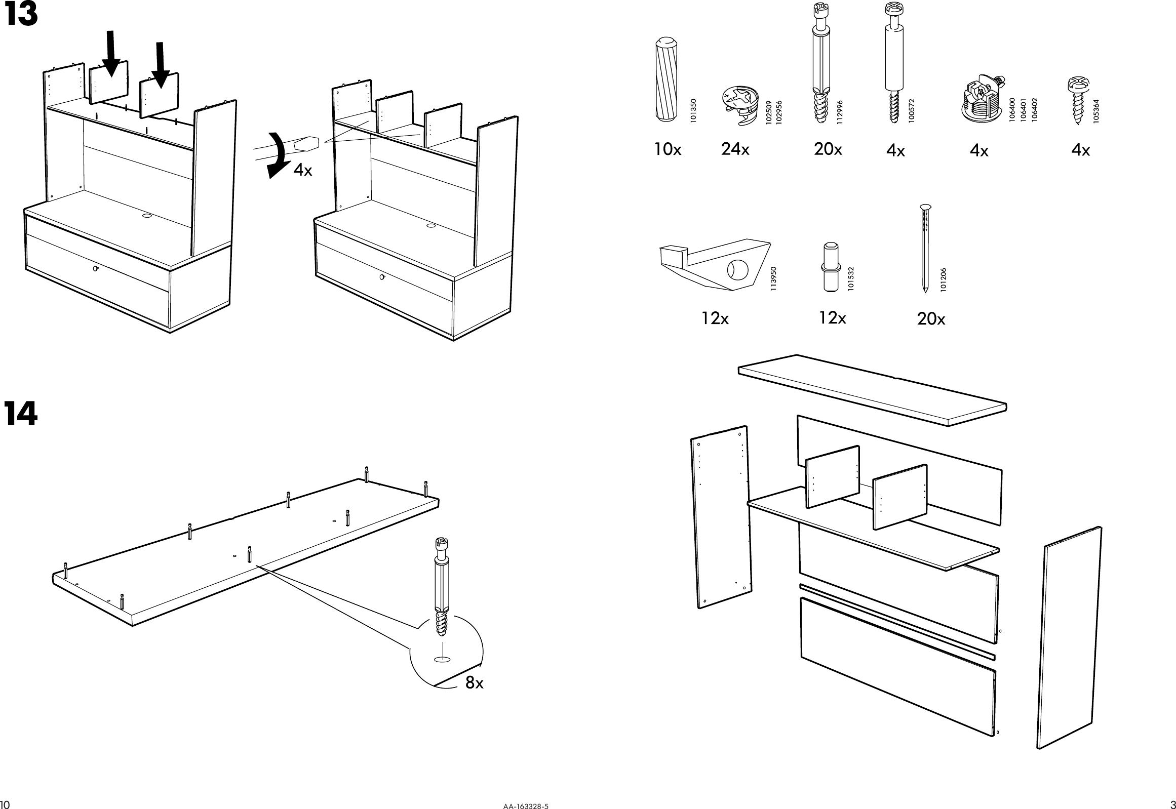 Ikea Bonde Add On For Tv Unit 57×40 Assembly Instruction 3 # Meuble Tele Bonde Ikea