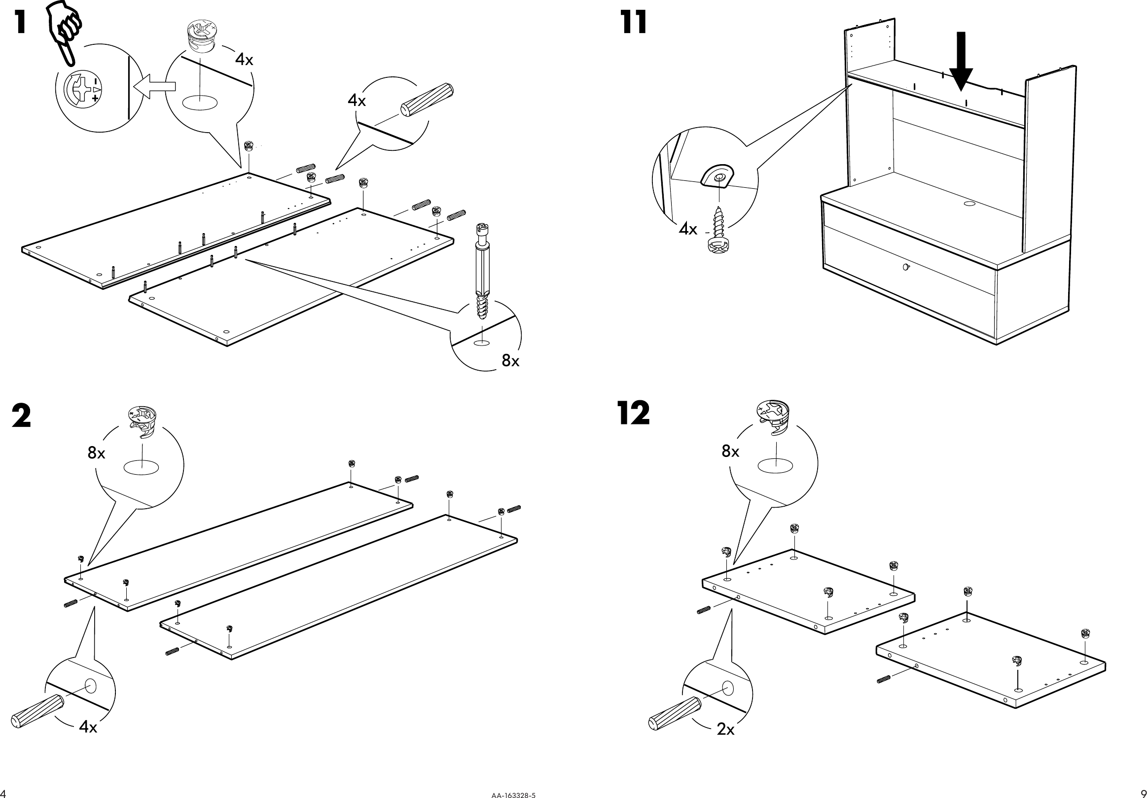 Page 4 of 6 - Ikea Ikea-Bonde-Add-On-For-Tv-Unit-57X40-Assembly-Instruction-3  Ikea-bonde-add-on-for-tv-unit-57x40-assembly-instruction