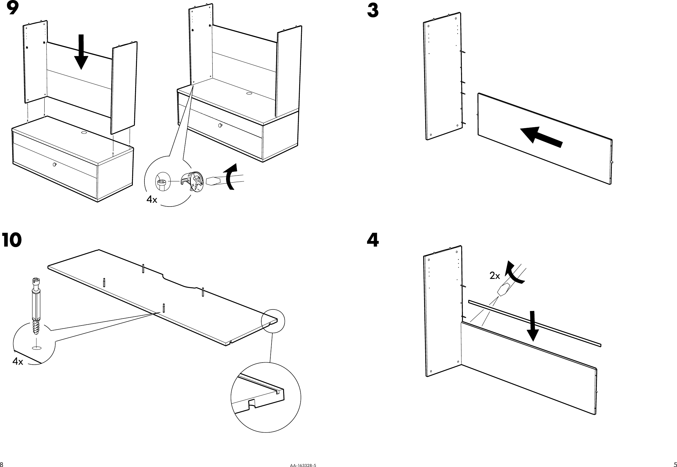 Page 5 of 6 - Ikea Ikea-Bonde-Add-On-For-Tv-Unit-57X40-Assembly-Instruction-3  Ikea-bonde-add-on-for-tv-unit-57x40-assembly-instruction